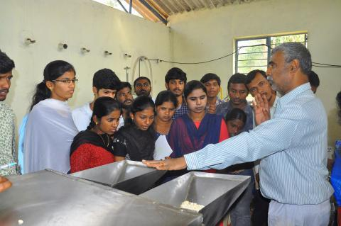 Dr Ramana Rao and students