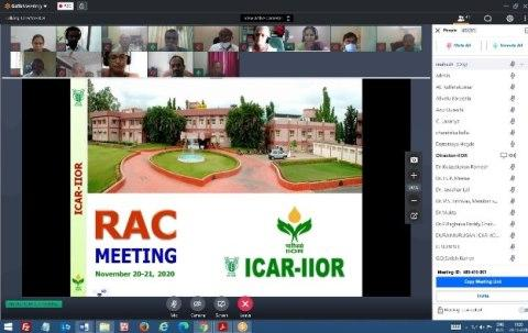 34th RAC meeting during November 20-21, 2020